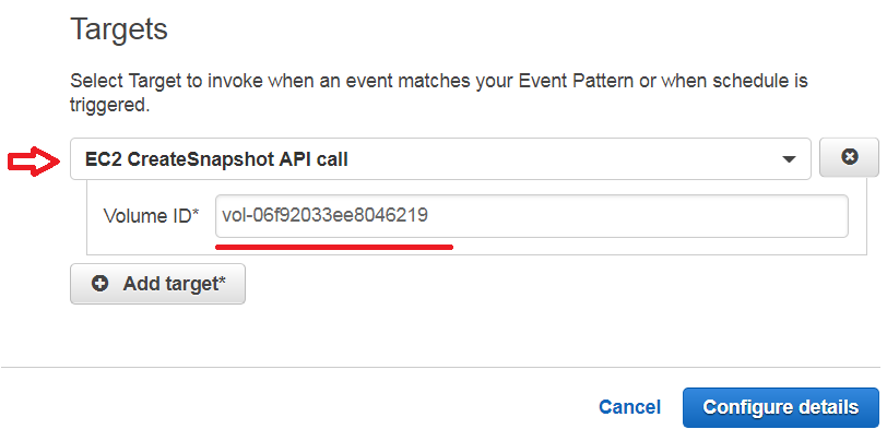 Automated EBS snapshots using Amazon CloudWatch Events - Rayfocus